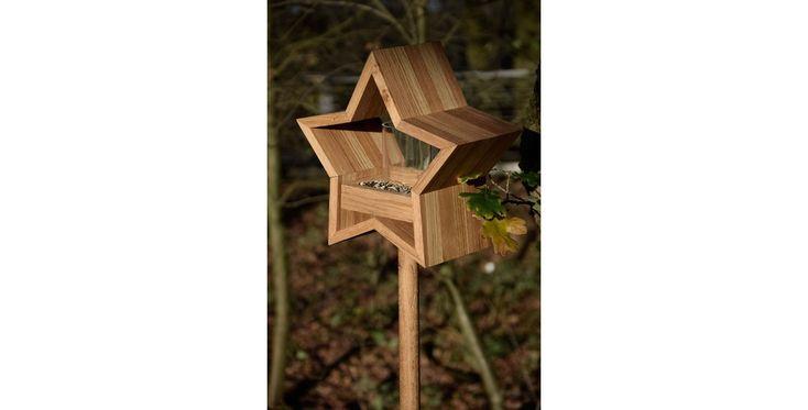 Futterstelle Stern für Vögel mit Futter-Silo und Ständer 30 x 14 x 152 cm kaufen bei OBI