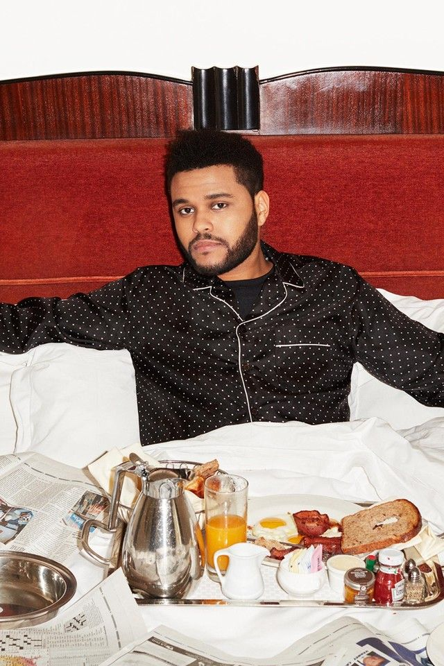 The Weeknd wearing Dolce