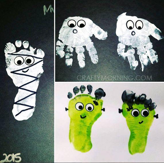 Adorable Handprint/Footprint Halloween Crafts - Crafty Morning
