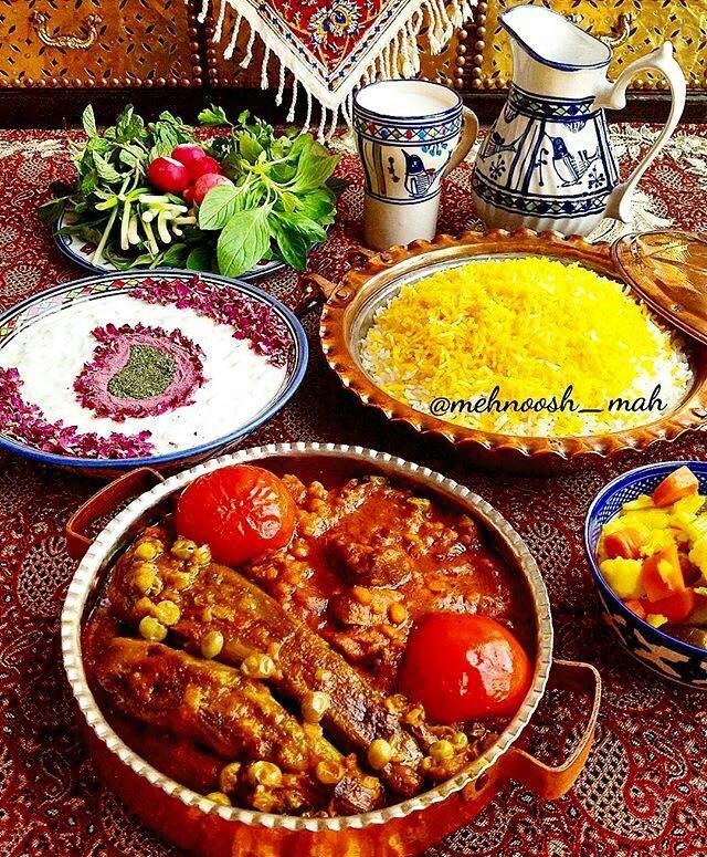pretty Persian food - Yummy.. Khoreshteh badamjoon