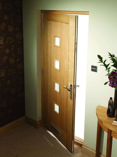 External Siena Oak Door with frame, factory pre hung with multipoint locking system #externaldoors
