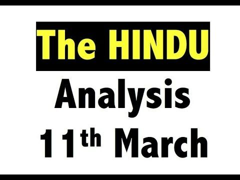 11 Mar-2017-The Hindu Full News Paper Analysis -[Maternity Leave, After ...