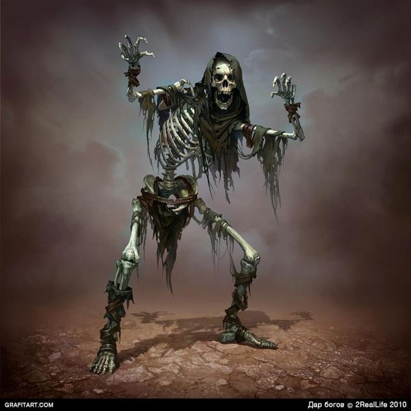 Skeletons for Godsand game monster beast creature animal   Create your own roleplaying game material w/ RPG Bard: www.rpgbard.com   Writing inspiration for Dungeons and Dragons DND D&D Pathfinder PFRPG Warhammer 40k Star Wars Shadowrun Call of Cthulhu Lord of the Rings LoTR + d20 fantasy science fiction scifi horror design   Not Trusty Sword art: click artwork for source