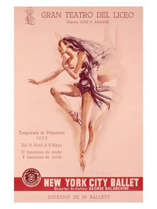 Vintage advertisement for the New York City Ballet