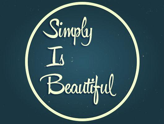 Simply :)