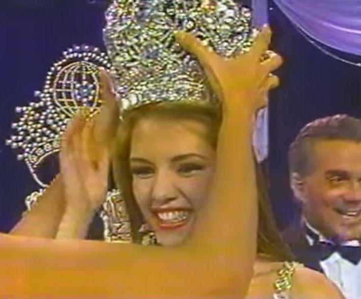 Alicia Machado.. es coronada como la Mujer mas Bella del Miss Venezuela 1995, by Antoni Azocar..