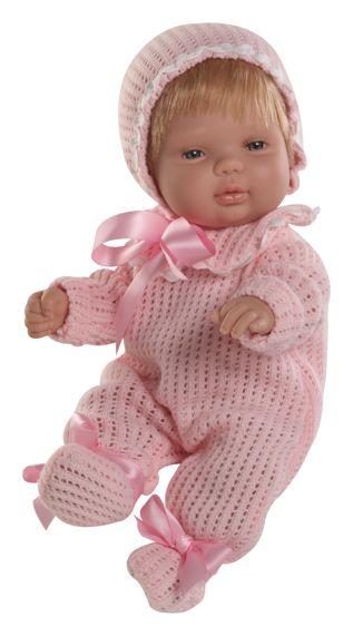 Realistické miminko holčička v  růžovém pyžámku od firmy Berjuan ze Španělska