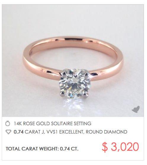 30 best Rose Gold Engagement Rings images on Pinterest