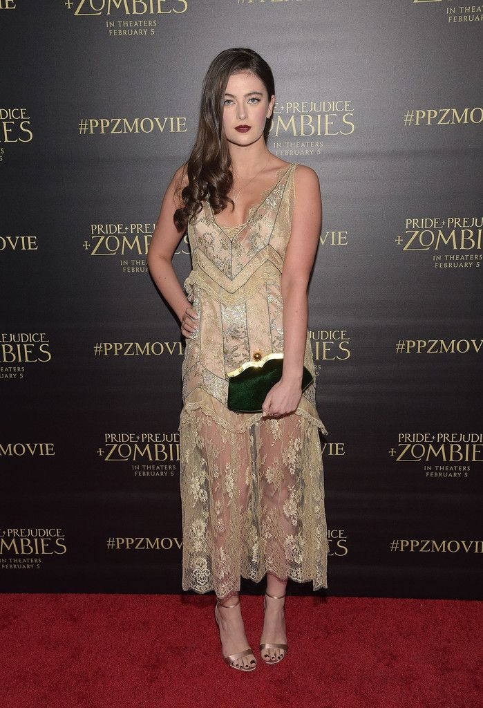 Millie Brady in Miu Miu - Premiere of Screen Gems' 'Pride And Prejudice And Zombies' - January 21, 2016