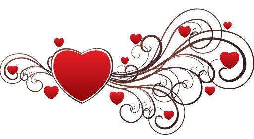 valentine's day clip art | happy, heart, love, romance, swirls, valentines day