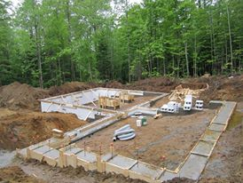 ICF Foundation at a new build by Integrity