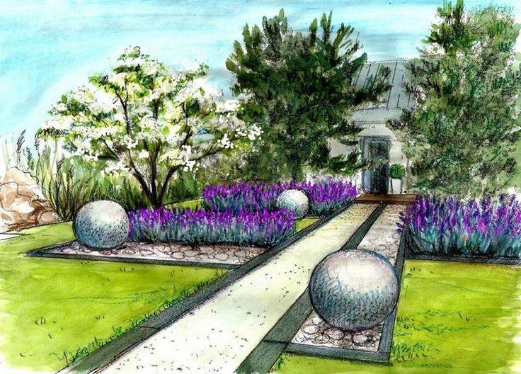 картинки красивого сада карандашом истребили острове
