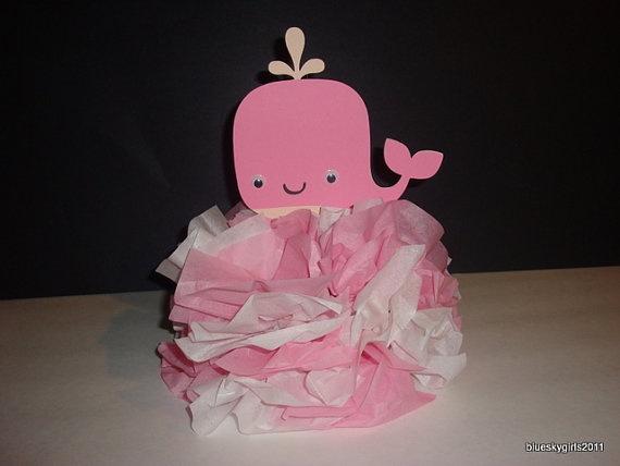 Pink Whale Decoration Centerpiece 1st Birthday by blueskygirls, $7.00