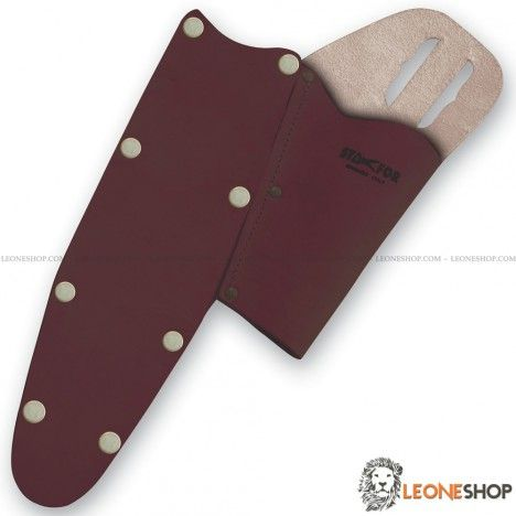 Leather Sheath for pruning shears and saws STAFOR Italy, sheaths for shears and saws of high quality, equipped with belt loop that allows maximum practicality while you work - Gardening and Pruning sheath for shears, a truly exceptional product with quality materials, light and useful - For sale online sheaths for shears and saws STAFOR Italy - LEONESHOP.COM - Gardeing and pruning sheaths and sharpening stones for sale online