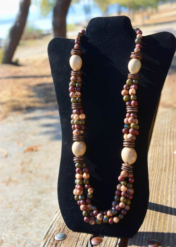 Tagua Round Large Bead with Acai and Coconut Double by TrendsSouth, $39.00