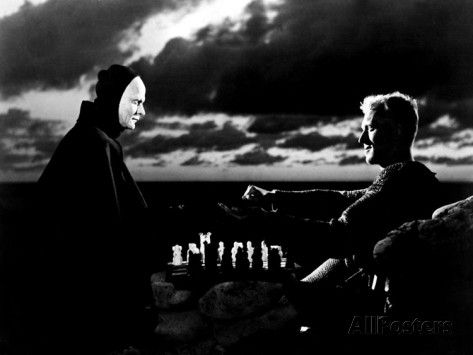 The Seventh Seal, Bengt Ekerot, Max Von Sydow, 1957 Photo at AllPosters.com