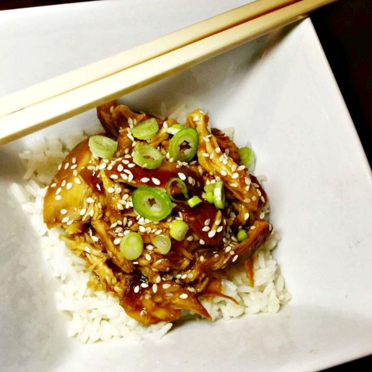 Healthy Slow Cooked Asian Chicken
