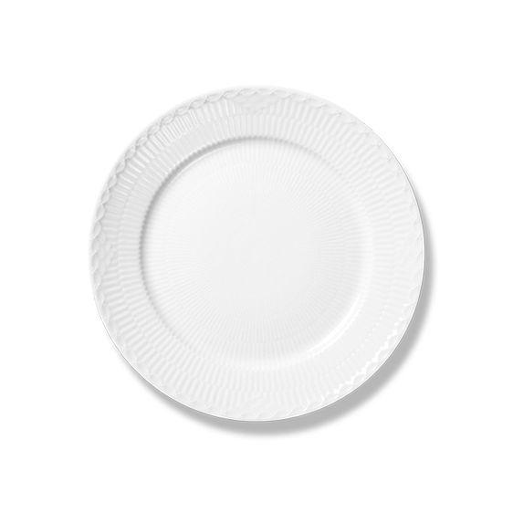 Royal Copenhagen White Fluted Half Lace Plate 17 cm