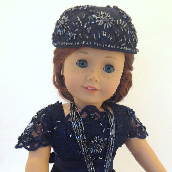 18 pouces poupée Edwardian chapeau - accessoires de poupée pour les poupées de 18 pouces comme American Girl. Chapeau perlé pour poupée exclusif!