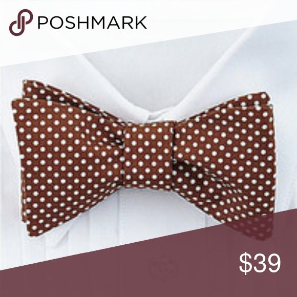 New Ted Baker Polka Dot Brown Bow Tie Silk New with tags Ted Baker adjustable bow tie.  Brown with white polka dots. Ted Baker London Accessories Ties