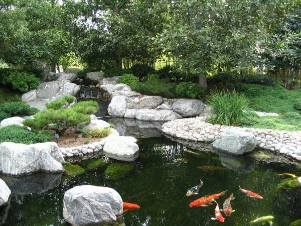Schönen Gartenteich anlegen – Gestalten Sie einen Wassergarten - Schönen Gartenteich anlegen wassergarten gestalten japanisch