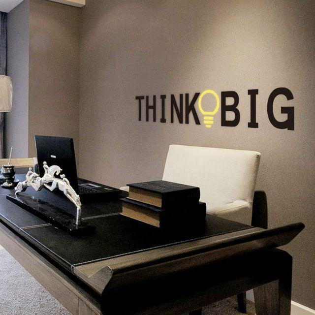 Вдохновенный и мотивационная на стены котировки мыслить масштабно офис украшения Sml формат ZY8251
