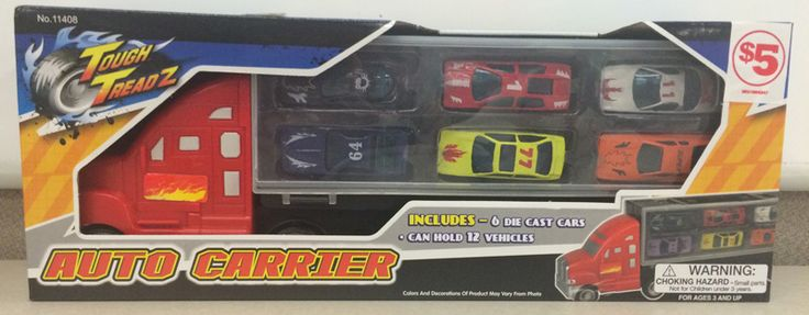 Family Dollar Stores Recall Tough Treadz Auto Carrier Toy Sets Due to Laceration Hazard