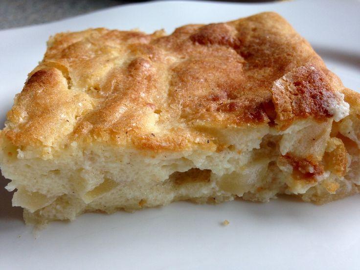 Quark - Apfelkuchen ohne Boden