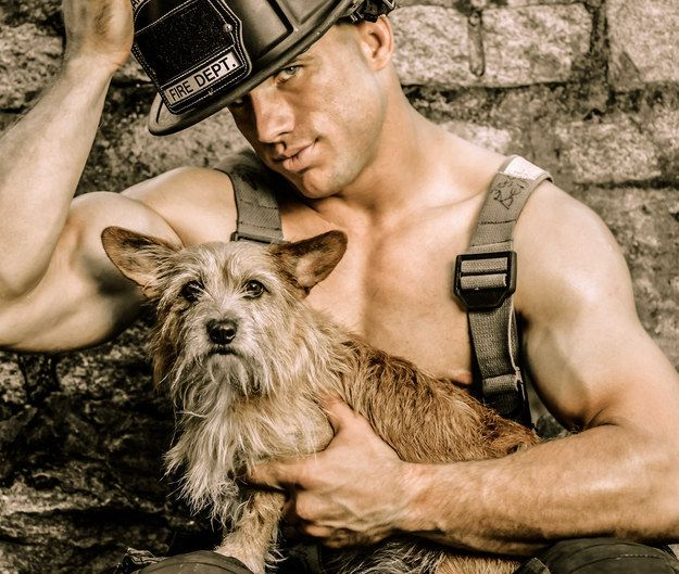 17 Sexy Firefighters With Puppies Are Guaranteed To Make You Sweat. All to help raise money for injured, abused, and abandoned animals.