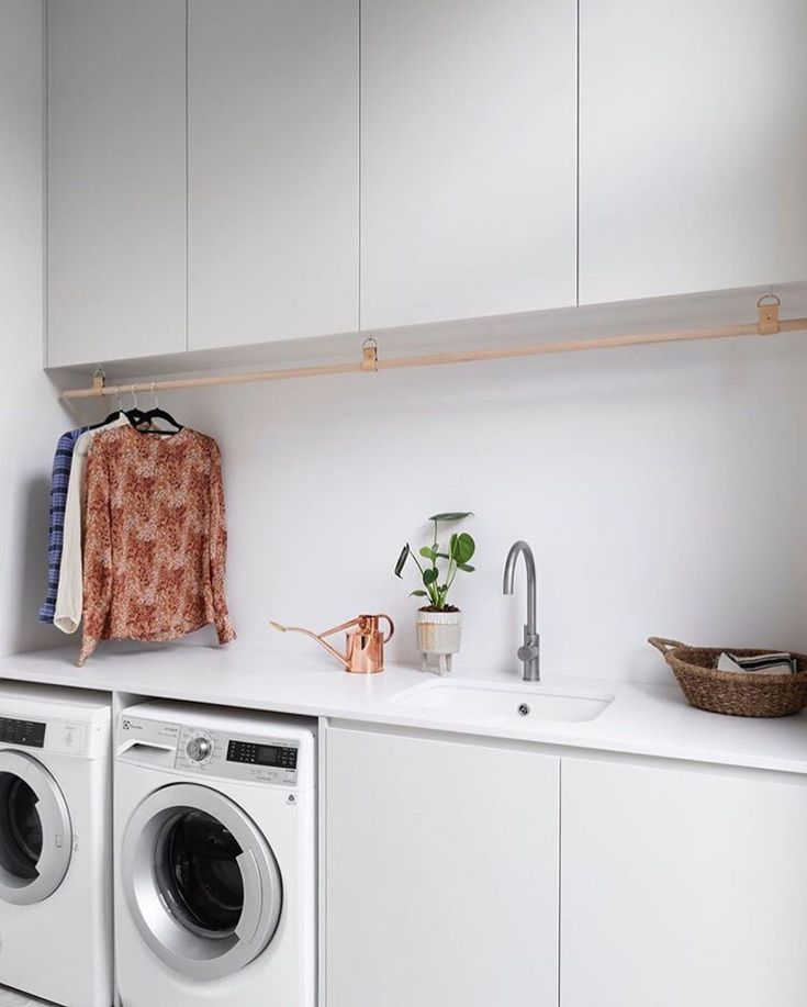 Mar 4 2020 E M M E L I N E On Instagram H A N G O N Loving This Hanging Rail By H And G Design In 2020 Laundry Design Laundry Room Inspiration Residential Design