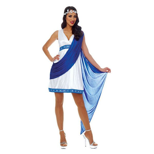 Greek Empress Costume ($55) ❤ liked on Polyvore featuring costumes, greek halloween costumes and greek costume