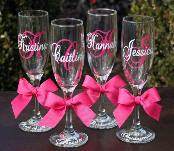 10 Custom Order for Bridal Party  Champagne by MakeItPersonalGifts, $100.00