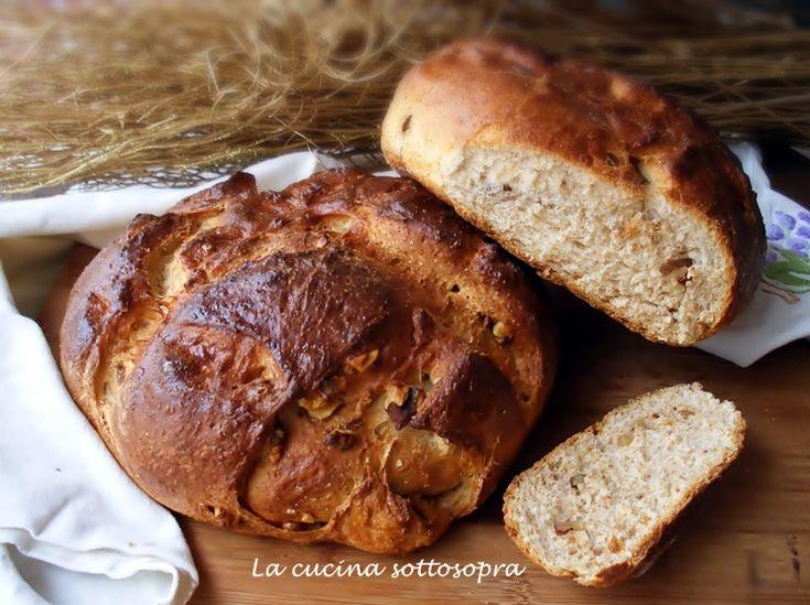Il pane crusca e noci delle Sorelle Simili è un buonissimo pane integrale arricchito da crusca d'avena e noci..da preparare con e senza Bimby!