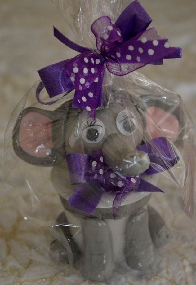 Empaques para dulces y recordatorios elefanta