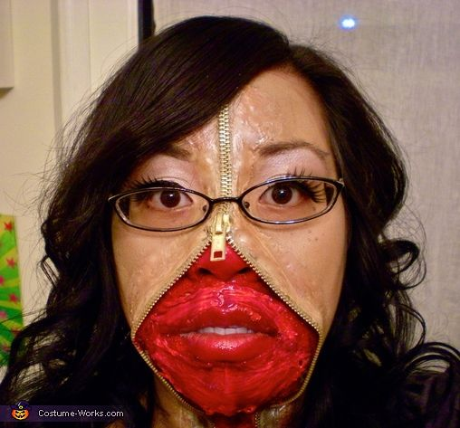 49 best Zipper Face images on Pinterest   Zippers, Costumes and ...