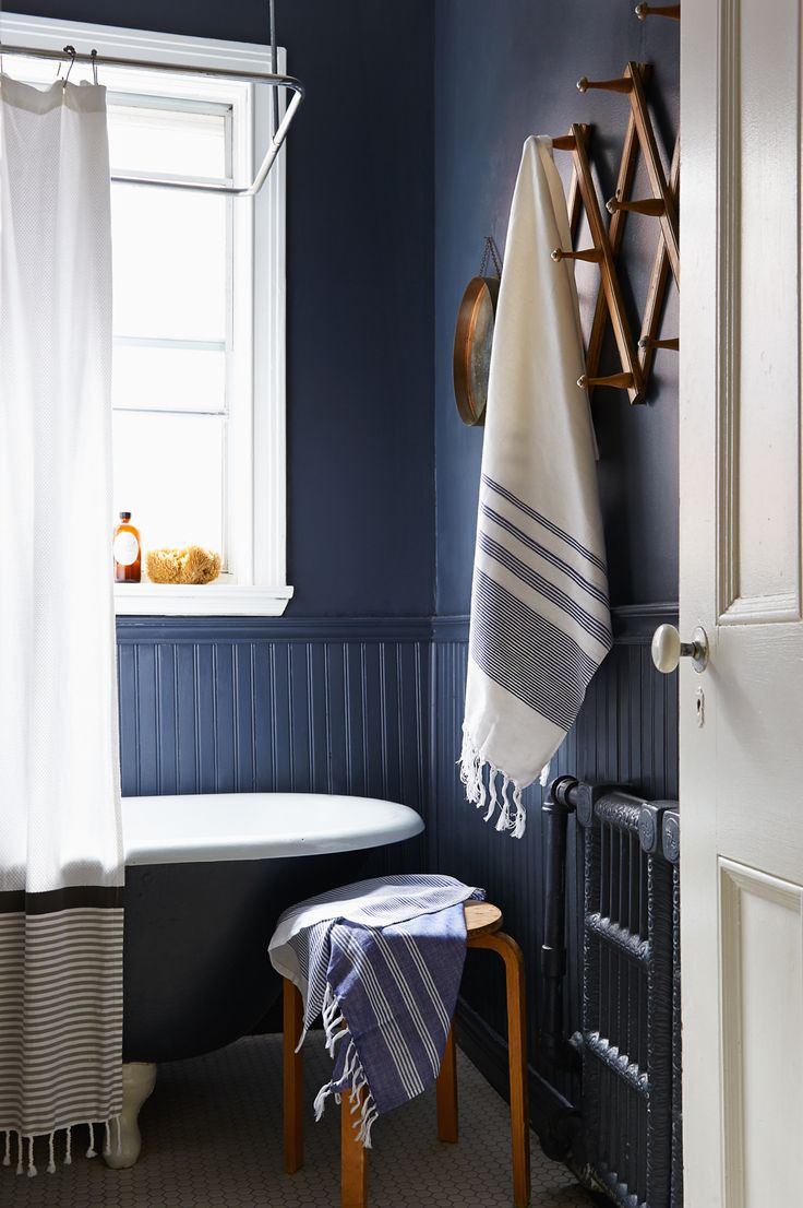 Dark blue and white bathroom - Aqua Bloc Stripe Hand Towels Set Of 2 India Blue White Bathroomsdark Download Image Navy Blue Bathroom