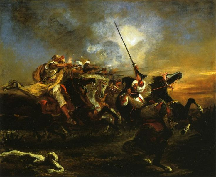 Eugène Delacroix, Moroccan Military Exercises, 1832, Oil on canvas, 59 x 73 cm, Musée Fabre, Montpellier