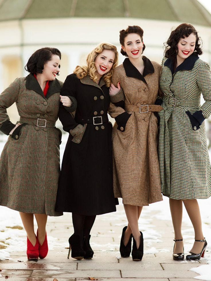Vintage style winter coat