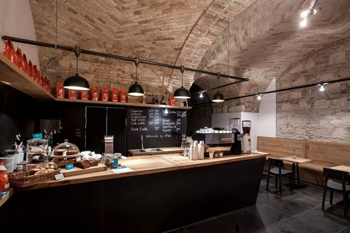 Embassy Espresso café by Spora Architects, Budapest   Hungary hotels and restaurants