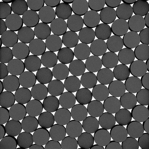 Fluffo, Fabryka Miękkich Ścian. Miękkie panele ścienne 3D, wzór DOTS, opcje ułożenia.