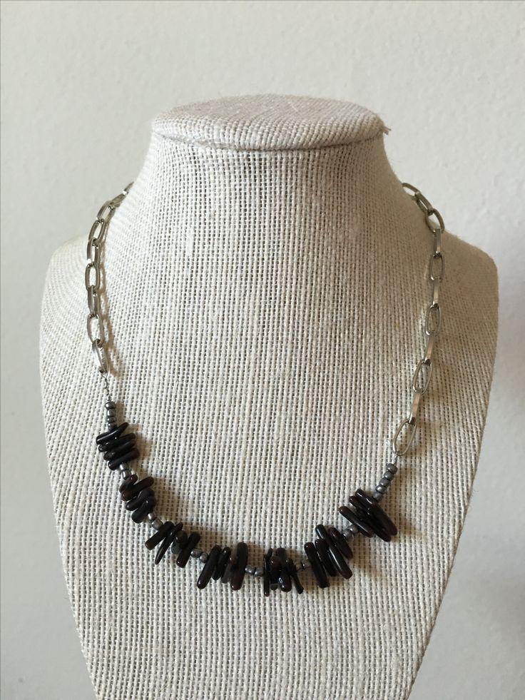 Coral dark necklace by MaxAna x