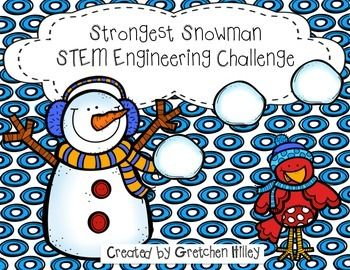 "Strongest Snowman STEM Engineering ChallengeAre you interested in ways to incorporate STEM into the holiday season? Do you need a fun way to get your kids moving on a cold, winter day?This unit includes:Teacher tips pageEngineering process posterStrongest Snowman problem prompt pageChallenge rulesWhich is stickiest graphEngineering design process recording pageResults questions pageData collection pageLine plot dataWere you successful graph The ""T"" in stem technology tips page.This challenge…"