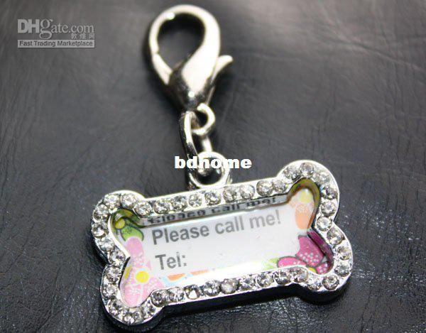 горный хрусталь кости образный пользовательских ожерелье кулон очарование собака кошка iD тегов в категории игрушки и жвачки