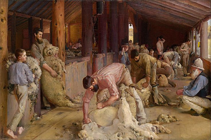 Roberts, Tom, (1856-1931), Shearing the Rams, 1890, Oil