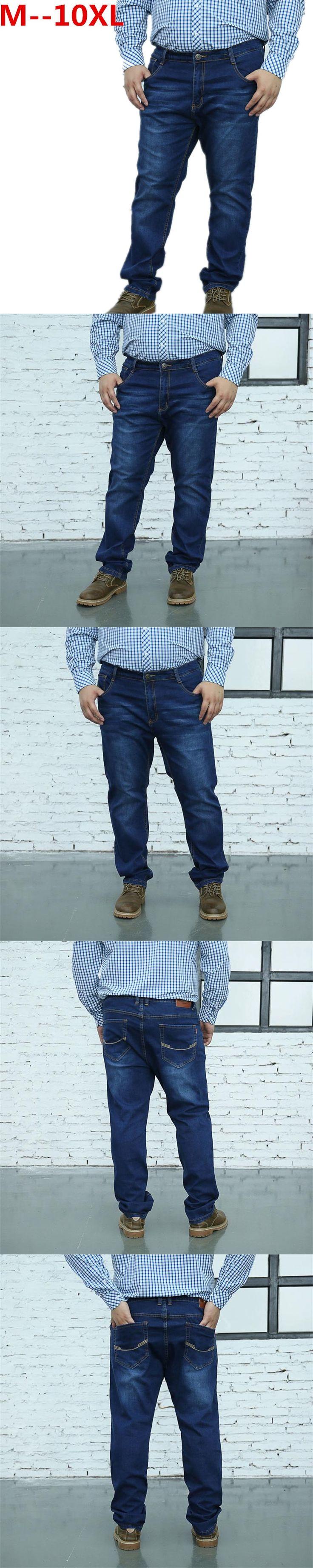 10XL 8XL 6XL 5XL 4XL 2017 New design jeans men Famous Brand Men Slim Jeans male 100% Cotton Straight pants Long denim Trousers