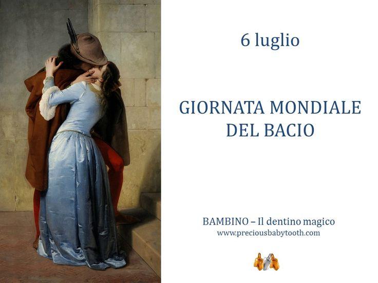 6 luglio GIORNATA MONDIALE DEL BACIO BAMBINO - Il dentino magico www.preciousbabytooth.com #6Luglio #GiornataDelBacio #Bambino #Dentino #Magico #Regalo #Ciondolo #Gioiello