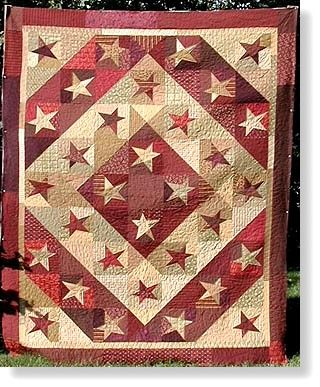 Barn Raising Quilt Kit.     Make it Canadian by putting a maple leaf block in it instead of the star.