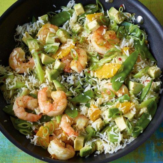 Reispfanne mit Avocado