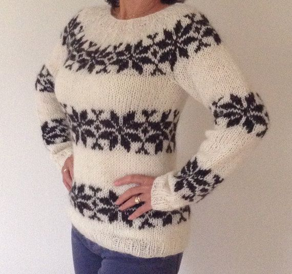 Sarah Lund sweater from The Killing - handmade in pure Icelandic Wool - also to order in other colors