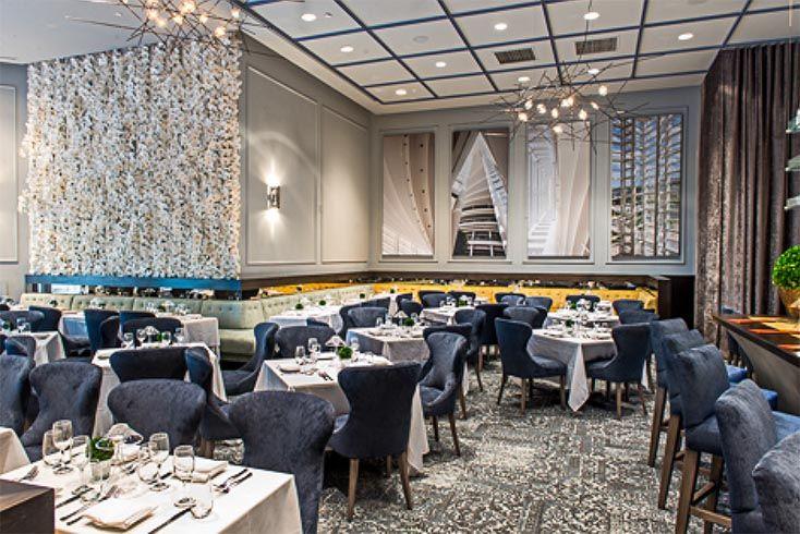 FLOR Chenille Charade Slate Brava Restaurant Miami